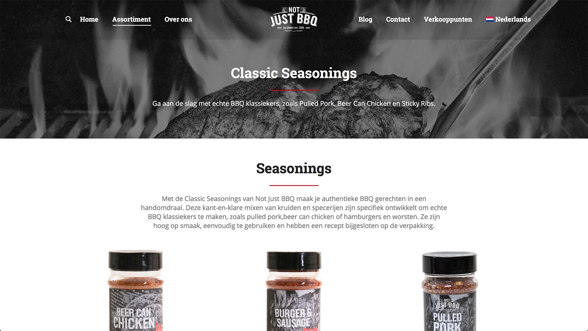 Nieuwe website voor Not Just BBQ