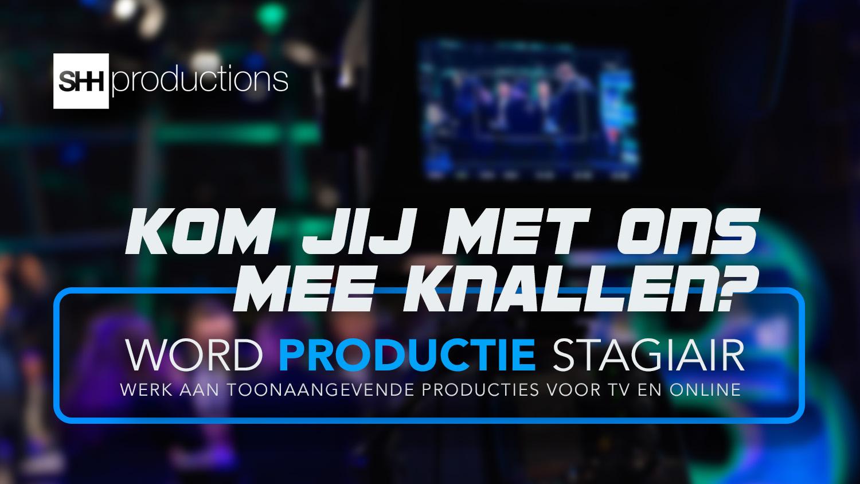 Stageplaats stage productie televisie