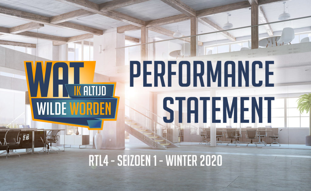 Wat ik altijd wilde worden RTL4 Performance statement S1 thumb