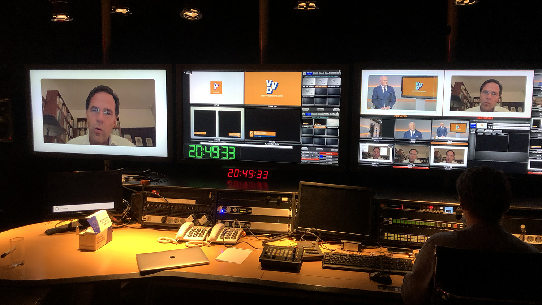 Webcast studio Rotterdam regiekamer
